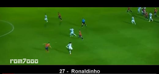 "Cú đánh gót ""vi diệu"" của Ronaldinho."