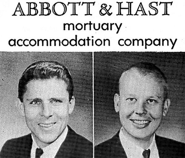 Abbott & Hatt - công ty làm dịch vụ tang lễ cho những người nổi tiếng thập niên 60 tại Mỹ.