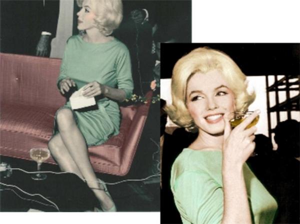 Chiếc váy xanh này được chọn để mặc cho Marilyn Monroe khi tiến hành tang lễ.