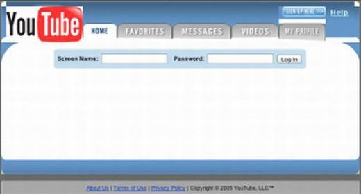 Giao diện đầu tiên của YouTube... (Ảnh: Internet)