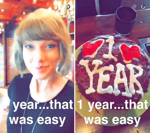 """Hình ảnh kỉ niệm 1 năm mà CalvinHarris đặc biệt đăng lên Instagram để """"lấy lòng"""" bạn gái.(Ảnh: Internet)"""