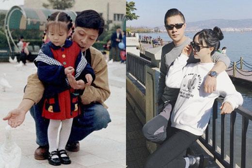 So sánh hình ảnh của 2 cha con của 18 năm trước và hiện tại. Ông bố này như được trẻ hóa theo thời gian. (Ảnh: Internet)