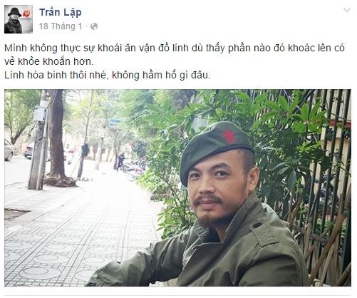 Dòng trại thái gần nhất được Trần Lập chia sẻ vào cuối tháng 2 vừa qua trong một lần ghé thăm Sài Gòn. - Tin sao Viet - Tin tuc sao Viet - Scandal sao Viet - Tin tuc cua Sao - Tin cua Sao