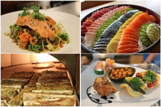 Những món ăn ngon lành đầy màu sắc đúng chuẩn 5 sao. (Ảnh: toutiao)