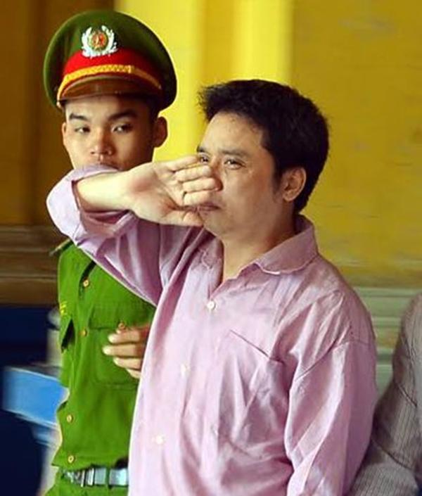Lã Tấn Huy tại phiên tòa xét xử. (Ảnh: Internet)