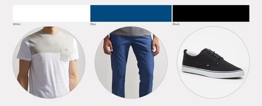 3 màu này kết hợp sẽ tạo nên hiệu ứng thon thả cho hình thể và làm khuếch tán sự chú ý khỏi những vùng cơ thể khiếm khuyết hiểm nghèo. Hơn nữa, xanh đen kết hợp luôn là style vô cùng phong cách. Cần sử dụng phụ kiện là một chiếc đồng hồ đeo tay dây đen.