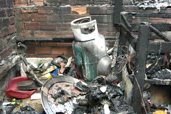 Một vụ nổ do bình gas gây ra. (Ảnh: Internet)