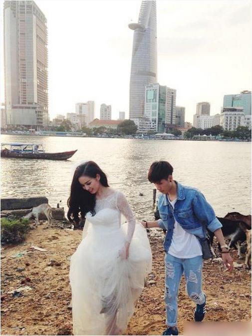 Cô dâu Tâm Tít phải xách váy đi vào phần đất đầy rác rưởi để chụp hình - Tin sao Viet - Tin tuc sao Viet - Scandal sao Viet - Tin tuc cua Sao - Tin cua Sao