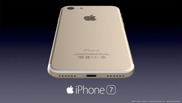 Mặt lưng chiếc iPhone 7 trong bản thiết kế này cho cảm giác liền mạch hơn phiên bản hiện tại. Máy không có jack cắm tai nghe 3,5 mm.