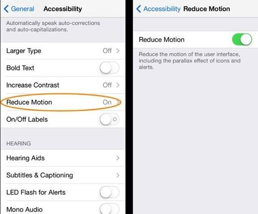 Tính năng Reduce Motion vẫn không nâng tốc độ Iphone lên được nhiều.(Ảnh: Internet)