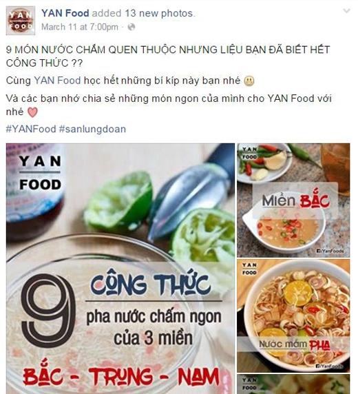 """Từ những món ăn đang """"hot"""" nhất cho đến những món ăn của tuổi thơ, những món ăn truyền thống của dân tộc,… đều xuất hiện trên fanpage YAN Food. (Ảnh: Internet)"""