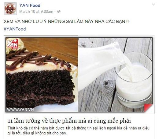 Những bí kíp nấu ăn hay nhữnglời khuyên bổ ích về ăn uống cũng được tập hợp tại YAN Food. (Ảnh: Internet)