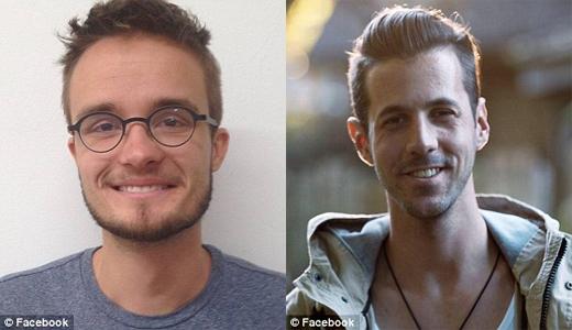 Philip Keller (trái) sẽ là một trong ba người bạn cõng Kevan trên lưng trong chuyến hành trình, còn Luke Thompson là người ghi hình lại chuyến đi. (Ảnh: Daily Mail)