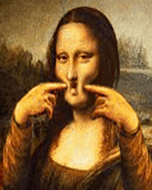 """Hãy thở phào nhẹ nhõm khi Mona Lisa không trưng """"tấm ảnh lỗi"""" này lên sơ yếu lílịch của mình. (Ảnh: Internet)"""