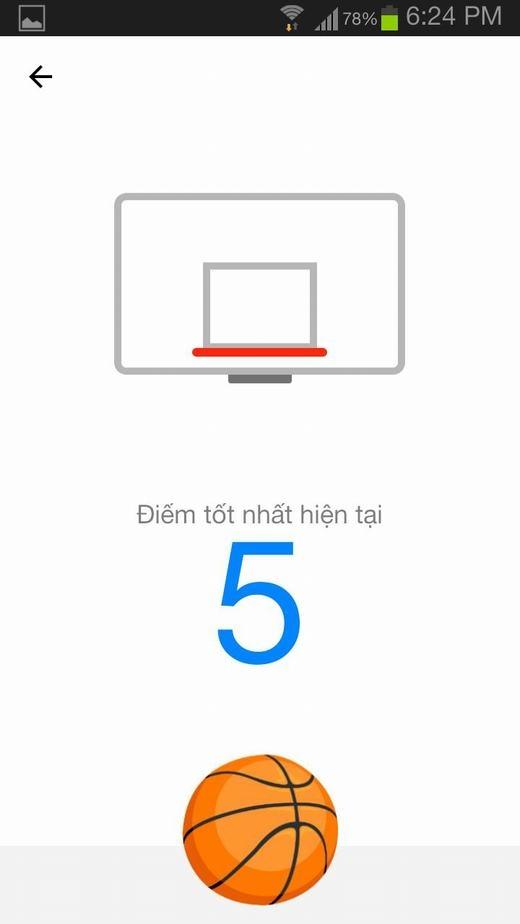 Cách chơi bóng rổ trên Messenger. (Ảnh: Chụp màn hình)