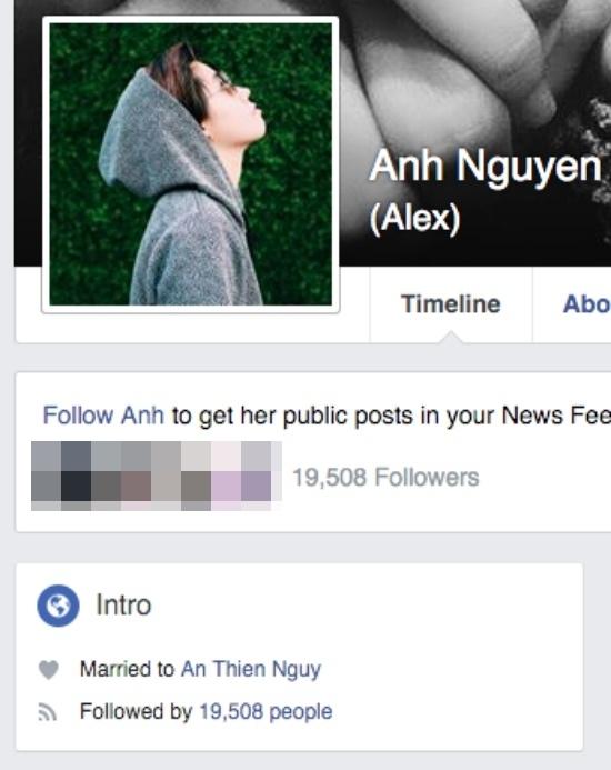 """Alexcách đây không lâu còn đổi trạng thái quan hệ vớiAn Nguythành """"đã kết hôn""""khiến nhiều người thích thú.(Ảnh: Internet)"""