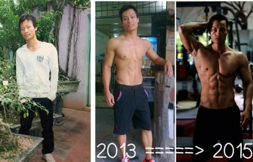 Từ một chàng trai ốm yếu, còi cọc, Hoan đã trở thành một người khỏe mạnh với thân hình cơ bắp, nở nang. (Ảnh: Internet)