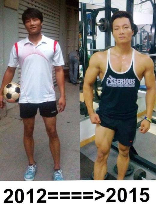 Hoan rất chú ý chụp lại quá trình tiến bộ của mình qua từng năm. (Ảnh: Internet)