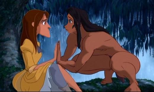 Tarzan & Jane trong Tarzan: vì yêu là tìm thấy bản thân mình ở đối phương. (Ảnh: Internet)