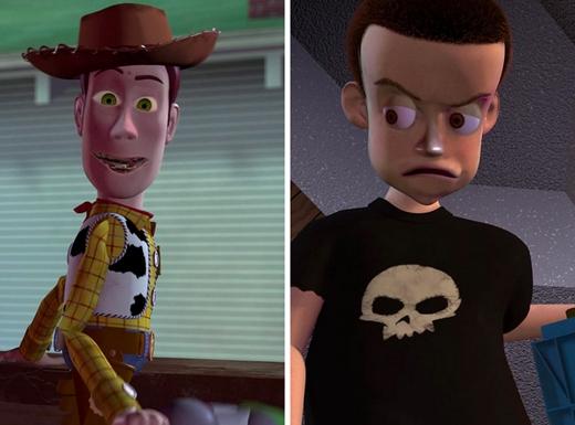 Woody & Sid trong Toy Story: truyện kinh dị lúc nửa đêm. (Ảnh: Internet)