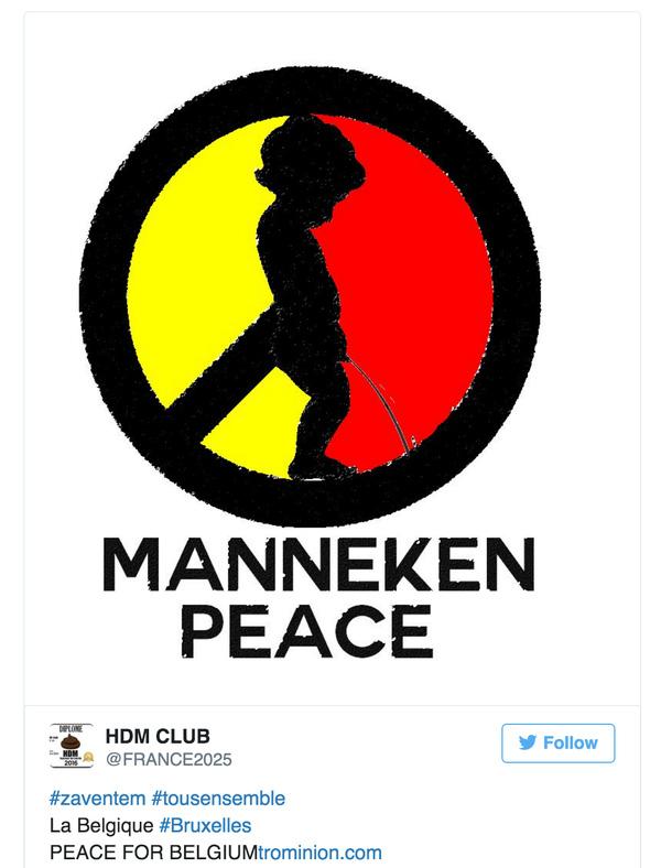 Manneken muốn sự bình yên về với Bỉ.