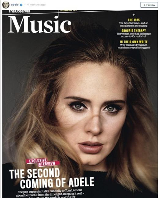 Adele mặc dù thân hình không cân đối nhưng lại sở hữu gương mặt xinh đẹp và ấn tượng. (Ảnh: Internet)