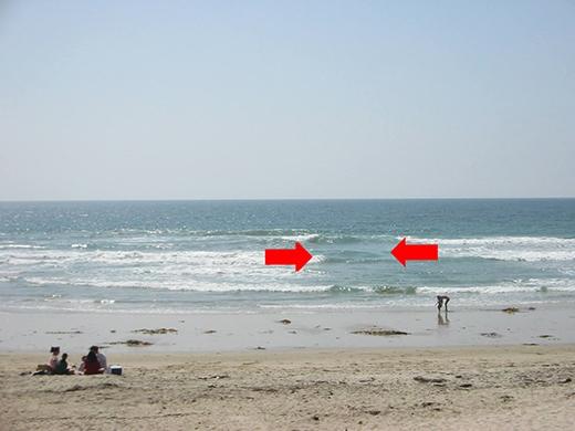 Dòng xoáy, thủ phạm gây tai nạn chết người, là dòng chảy hướng ngược ra biển. (Ảnh: Internet)
