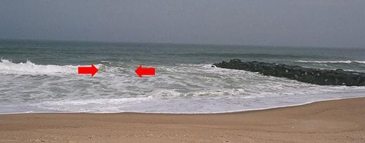 Dòng xoáy nguy hiểm nhưng ít có người đi tắm biển nào để ý đến. (Ảnh: Internet)