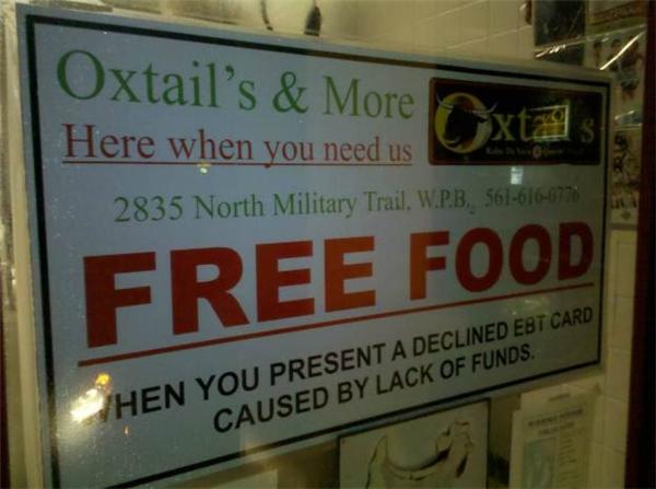 Nhà hàng cung cấp bữa ăn miễn phí. (Ảnh: Internet)