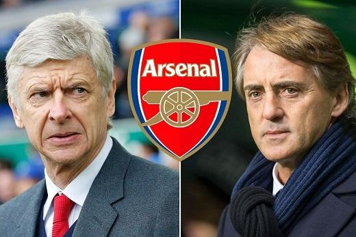 """Mancini sẽ lãnh đạo """"Pháo thủ"""" ở mùa giải năm sau? (Ảnh: The Sun)"""