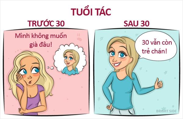 Những điều khác biệt không thể chối cãi giữa con gái tuổi 20 và 30