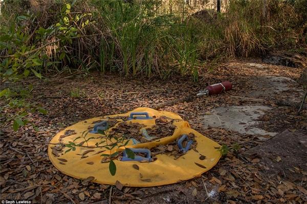 Phao bơi bị vứt bỏ trong rừng