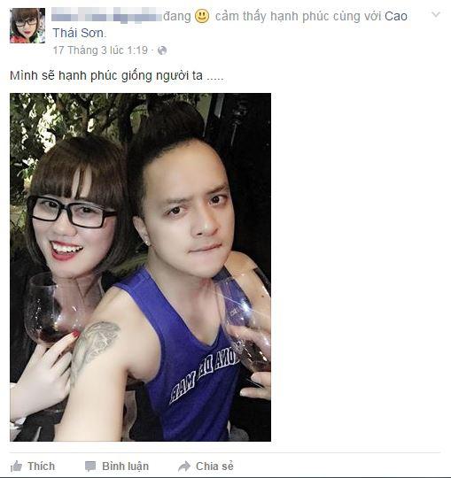 """Thế nhưng, mới đây trên trang cá nhân của nam ca sĩ,xuất hiện một cô gái đầy """"khả nghi"""" rằng đây chính là bạn gái mới của Cao Thái Sơn. - Tin sao Viet - Tin tuc sao Viet - Scandal sao Viet - Tin tuc cua Sao - Tin cua Sao"""