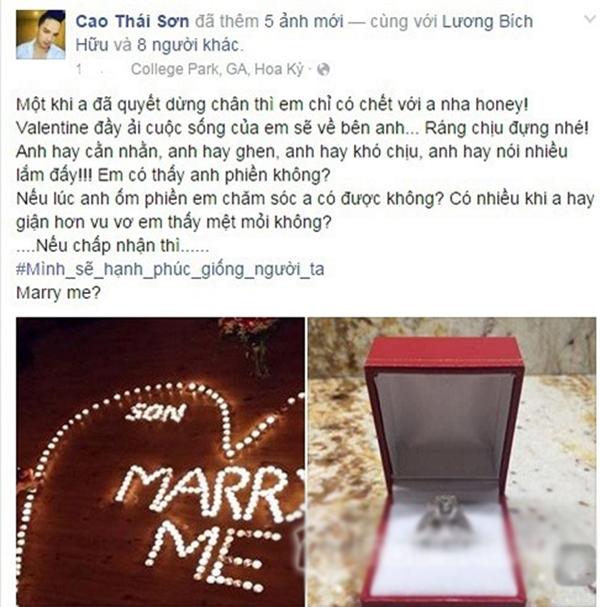 Trước đó, nam ca sĩ từng ngỏ lời cầu hôn bạn gái trong dịp Valentine vừa qua, nhưng không tiết lộ thông tin cũng như hình ảnh của người yêu. - Tin sao Viet - Tin tuc sao Viet - Scandal sao Viet - Tin tuc cua Sao - Tin cua Sao
