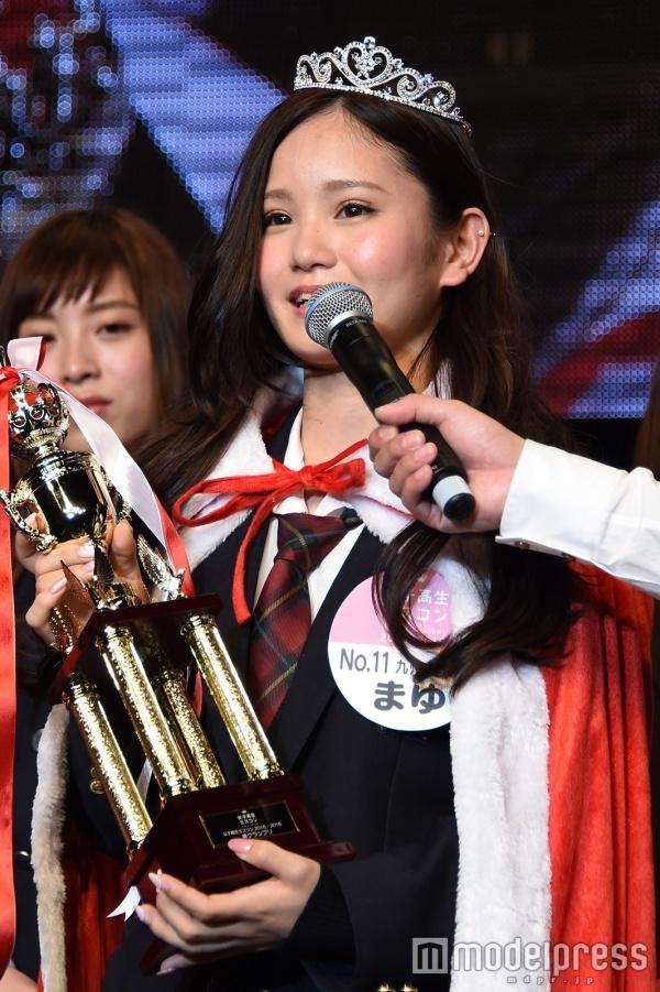 Á khôi của cuộc thi, nữ sinh xinh nhì Nhật Bản, Kamisato Mayu, cao 1m49. (Ảnh: modelpress)
