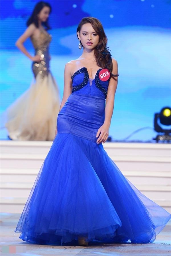Quỳnh Mai tại Hoa hậu Hoàn vũ Việt Nam 2015.