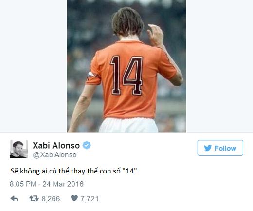 Một loạt các ngôi sao và cựu cầu thủ Real Madrid cũng nói lời tri ân tới Johan. (Ảnh: Twitter)