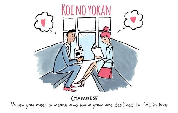 """3. Koi no Yokan trong tiếng Nhật có nghĩa là khi bạn gặp ai đó và bạn biết mình đã trúng """"tiếng sét ái tình"""""""