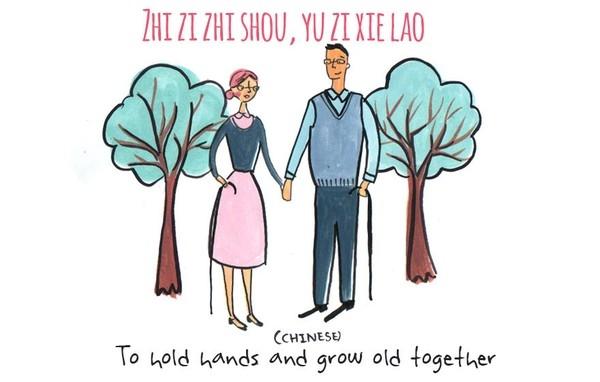 4. Từ dài dài này trong tiếng Trung Quốc có ý nghĩa là cả hai sẽ cùng nắm tay nhau và đi đến cuối cuộc đời.
