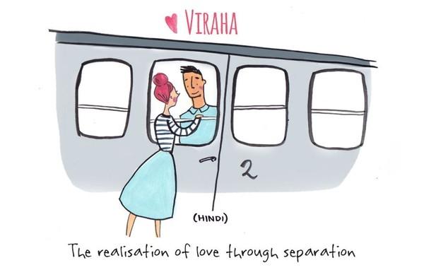 6. Viraha có nghĩa là thể hiện tình yêu khi phải cách xa nhau.
