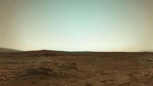 Sao Hỏa với màu sắc hết sức trung thực từ Curiosity Rover. (Ảnh: Internet)