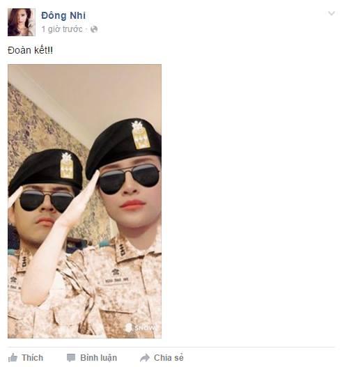 Hai anh quân nhân Đông Nhi và Ông Cao Thắng cực ngầu. - Tin sao Viet - Tin tuc sao Viet - Scandal sao Viet - Tin tuc cua Sao - Tin cua Sao