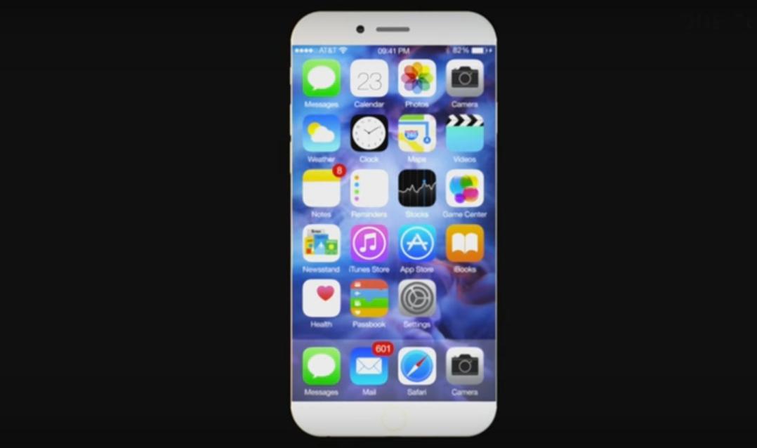 Giao diện iPhone 7 này giữ lại nét tinh tế của Apple trong các thiết kế của iPhone đời trước đó.