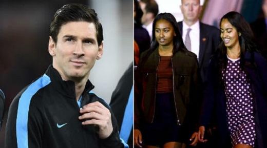 Messi sẽ tổ chức cuộc gặp mặt với 2 ái nữ nhà Obama trong thời gian sớm nhất. (Ảnh: Internet)