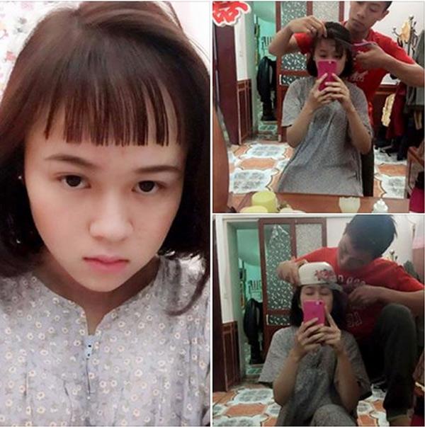 Mái tóc cực độc của Thảo Bông được thực hiện bởi tay kéo của chồng
