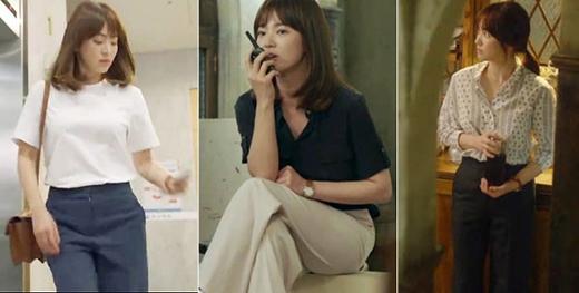 Song Hye Kyo gợi ý nhiều cách mix đồ hiệu quả cho các nàng công sở với giá cả phải chăng. (Ảnh: Internet)