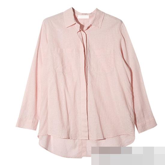 Áo sơ mi gam màu hồng nhẹ của thương hiệu STYLENANDAWashing Linen.