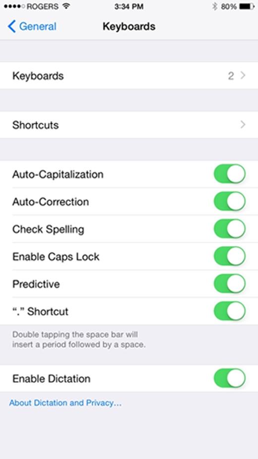 Người dùng có thể tìm thấy các tùy chọntrong mục Setting. (Ảnh: Internet)