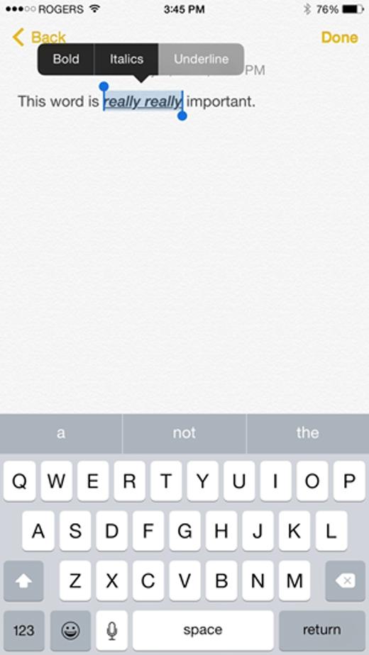 Bôi đen đoạn văn bản cần áp dụng, nhấn chọn B/U ở thực đơnđể định dạng văn bản.(Ảnh: Internet)