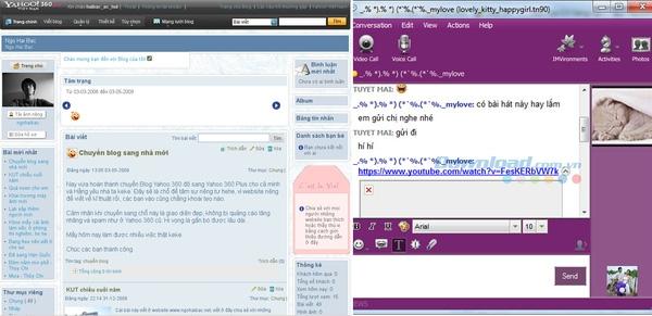 2006: Blog Yahoo 360 và Yahoo Messenger thống lĩnh thị trường.(Ảnh: Internet)